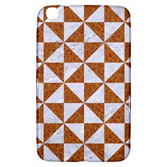 Triangle1 White Marble & Rusted Metal Samsung Galaxy Tab 3 (8 ) T3100 Hardshell Case