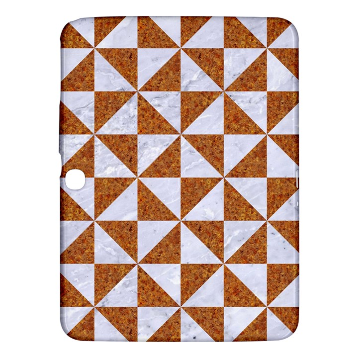 TRIANGLE1 WHITE MARBLE & RUSTED METAL Samsung Galaxy Tab 3 (10.1 ) P5200 Hardshell Case