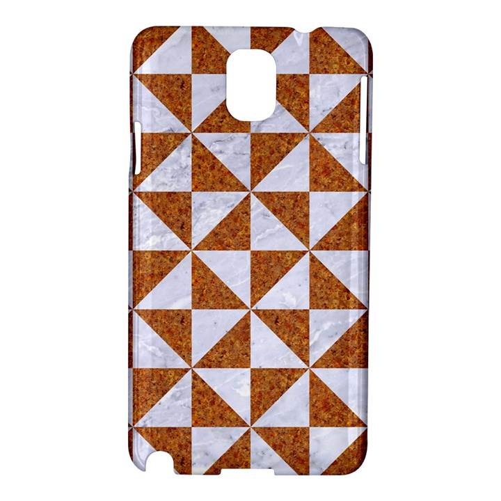 TRIANGLE1 WHITE MARBLE & RUSTED METAL Samsung Galaxy Note 3 N9005 Hardshell Case