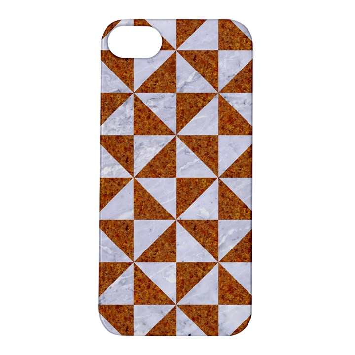 TRIANGLE1 WHITE MARBLE & RUSTED METAL Apple iPhone 5S/ SE Hardshell Case