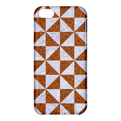 Triangle1 White Marble & Rusted Metal Apple Iphone 5c Hardshell Case