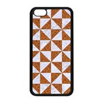 TRIANGLE1 WHITE MARBLE & RUSTED METAL Apple iPhone 5C Seamless Case (Black) Front