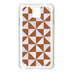 TRIANGLE1 WHITE MARBLE & RUSTED METAL Samsung Galaxy Note 3 N9005 Case (White) Front