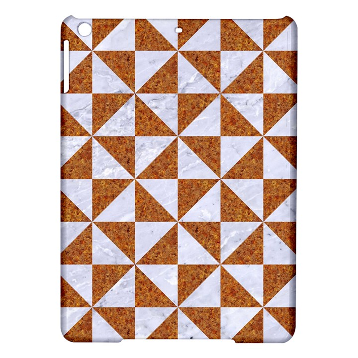 TRIANGLE1 WHITE MARBLE & RUSTED METAL iPad Air Hardshell Cases