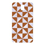 TRIANGLE1 WHITE MARBLE & RUSTED METAL Samsung Galaxy Note 3 N9005 Hardshell Back Case Front