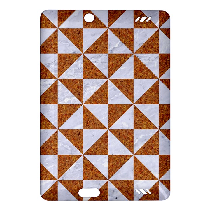 TRIANGLE1 WHITE MARBLE & RUSTED METAL Amazon Kindle Fire HD (2013) Hardshell Case