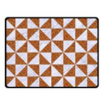 TRIANGLE1 WHITE MARBLE & RUSTED METAL Double Sided Fleece Blanket (Small)  45 x34 Blanket Back