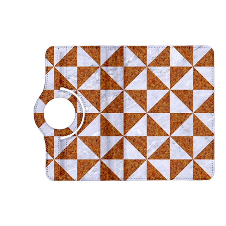 TRIANGLE1 WHITE MARBLE & RUSTED METAL Kindle Fire HD (2013) Flip 360 Case