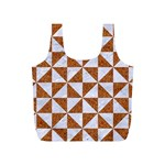 TRIANGLE1 WHITE MARBLE & RUSTED METAL Full Print Recycle Bags (S)  Front