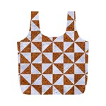 TRIANGLE1 WHITE MARBLE & RUSTED METAL Full Print Recycle Bags (M)  Front
