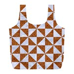 TRIANGLE1 WHITE MARBLE & RUSTED METAL Full Print Recycle Bags (L)  Back