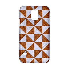 Triangle1 White Marble & Rusted Metal Samsung Galaxy S5 Hardshell Case