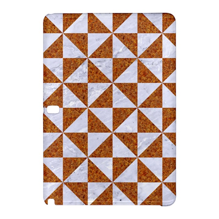 TRIANGLE1 WHITE MARBLE & RUSTED METAL Samsung Galaxy Tab Pro 10.1 Hardshell Case