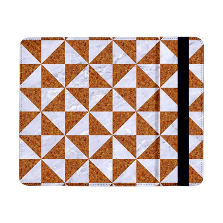 TRIANGLE1 WHITE MARBLE & RUSTED METAL Samsung Galaxy Tab Pro 8.4  Flip Case