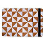 TRIANGLE1 WHITE MARBLE & RUSTED METAL Samsung Galaxy Tab Pro 10.1  Flip Case Front