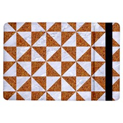 Triangle1 White Marble & Rusted Metal Ipad Air Flip
