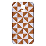TRIANGLE1 WHITE MARBLE & RUSTED METAL Samsung Galaxy S5 Back Case (White) Front