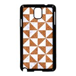 TRIANGLE1 WHITE MARBLE & RUSTED METAL Samsung Galaxy Note 3 Neo Hardshell Case (Black) Front