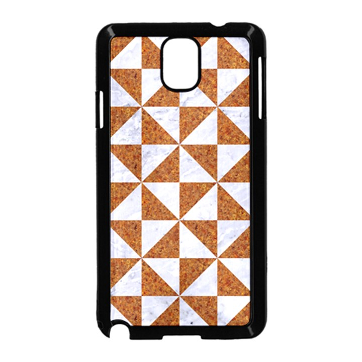 TRIANGLE1 WHITE MARBLE & RUSTED METAL Samsung Galaxy Note 3 Neo Hardshell Case (Black)
