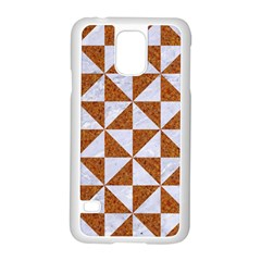 Triangle1 White Marble & Rusted Metal Samsung Galaxy S5 Case (white)