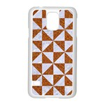 TRIANGLE1 WHITE MARBLE & RUSTED METAL Samsung Galaxy S5 Case (White) Front