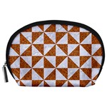 TRIANGLE1 WHITE MARBLE & RUSTED METAL Accessory Pouches (Large)  Front