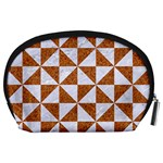 TRIANGLE1 WHITE MARBLE & RUSTED METAL Accessory Pouches (Large)  Back
