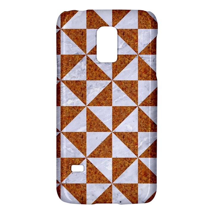 TRIANGLE1 WHITE MARBLE & RUSTED METAL Galaxy S5 Mini