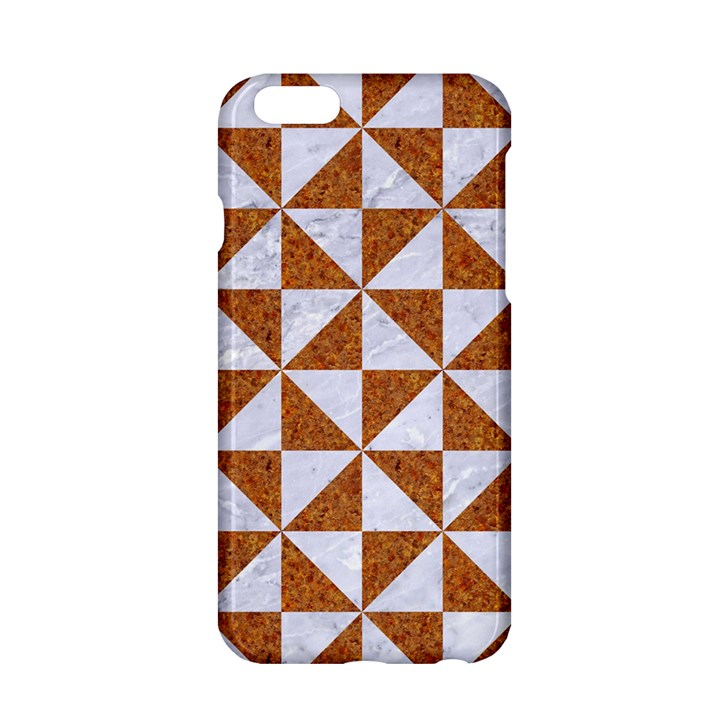 TRIANGLE1 WHITE MARBLE & RUSTED METAL Apple iPhone 6/6S Hardshell Case