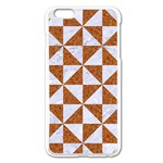 TRIANGLE1 WHITE MARBLE & RUSTED METAL Apple iPhone 6 Plus/6S Plus Enamel White Case Front
