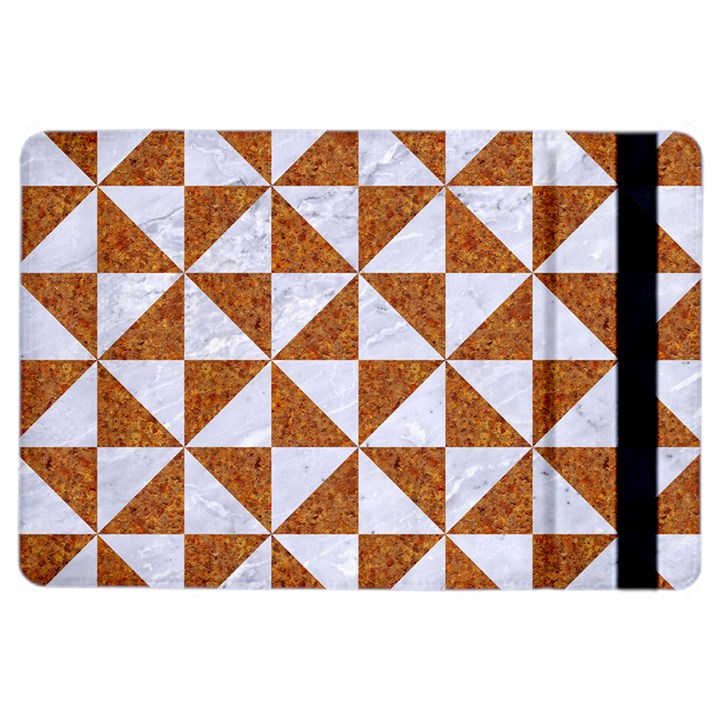TRIANGLE1 WHITE MARBLE & RUSTED METAL iPad Air 2 Flip