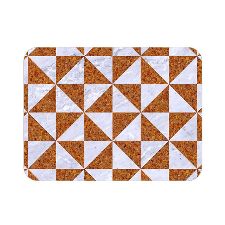 TRIANGLE1 WHITE MARBLE & RUSTED METAL Double Sided Flano Blanket (Mini)