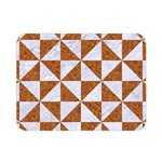 TRIANGLE1 WHITE MARBLE & RUSTED METAL Double Sided Flano Blanket (Mini)  35 x27 Blanket Back