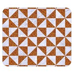 TRIANGLE1 WHITE MARBLE & RUSTED METAL Double Sided Flano Blanket (Small)  50 x40 Blanket Front