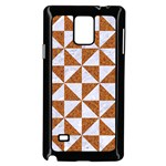 TRIANGLE1 WHITE MARBLE & RUSTED METAL Samsung Galaxy Note 4 Case (Black) Front