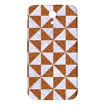 TRIANGLE1 WHITE MARBLE & RUSTED METAL Samsung Galaxy Mega I9200 Hardshell Back Case Front