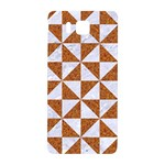 TRIANGLE1 WHITE MARBLE & RUSTED METAL Samsung Galaxy Alpha Hardshell Back Case Front