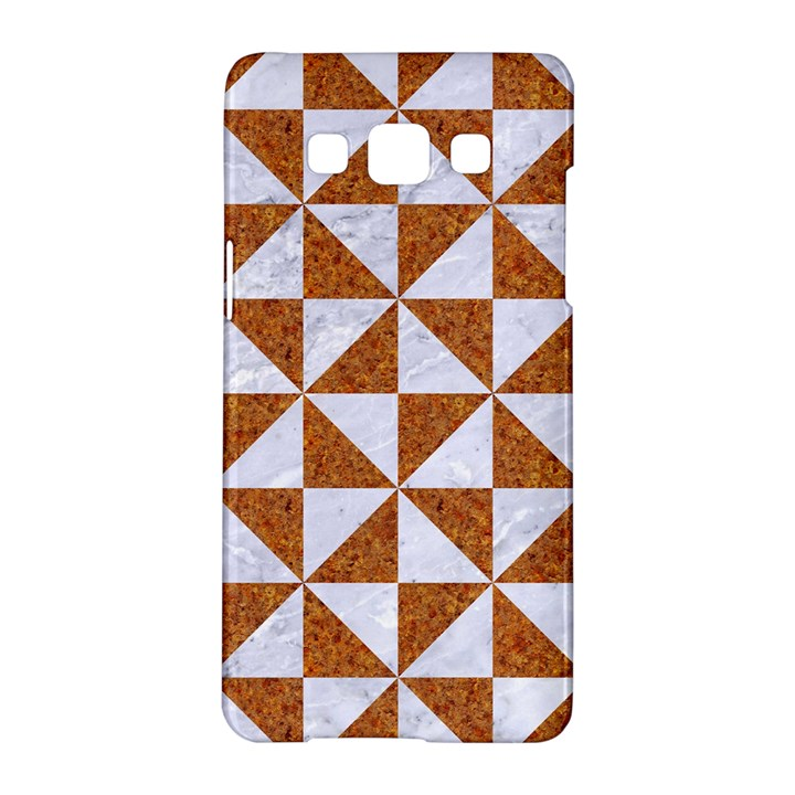 TRIANGLE1 WHITE MARBLE & RUSTED METAL Samsung Galaxy A5 Hardshell Case