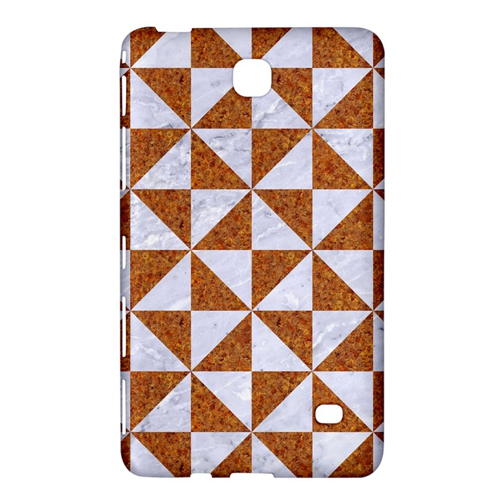 TRIANGLE1 WHITE MARBLE & RUSTED METAL Samsung Galaxy Tab 4 (7 ) Hardshell Case