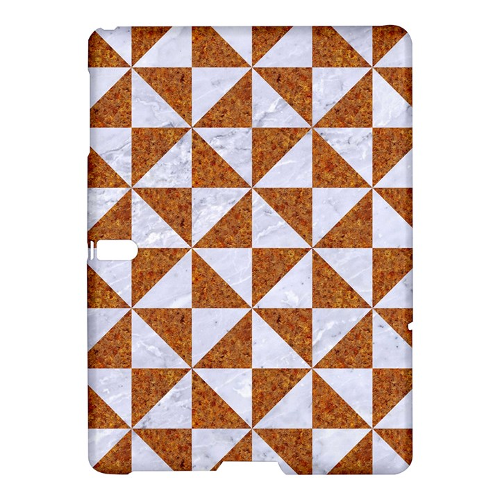 TRIANGLE1 WHITE MARBLE & RUSTED METAL Samsung Galaxy Tab S (10.5 ) Hardshell Case