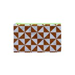 TRIANGLE1 WHITE MARBLE & RUSTED METAL Cosmetic Bag (XS) Front