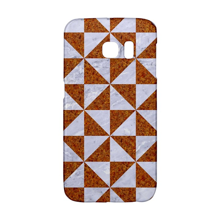 TRIANGLE1 WHITE MARBLE & RUSTED METAL Galaxy S6 Edge