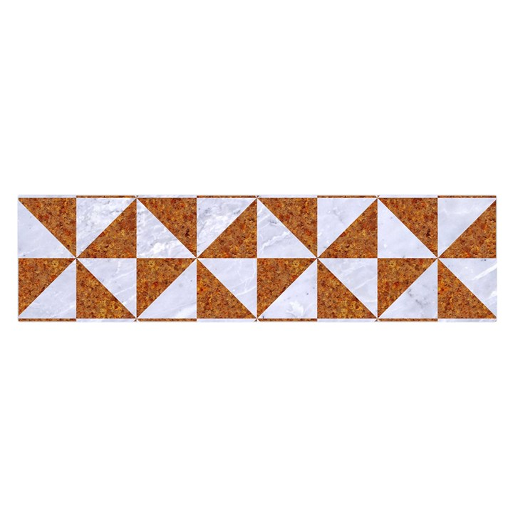 TRIANGLE1 WHITE MARBLE & RUSTED METAL Satin Scarf (Oblong)