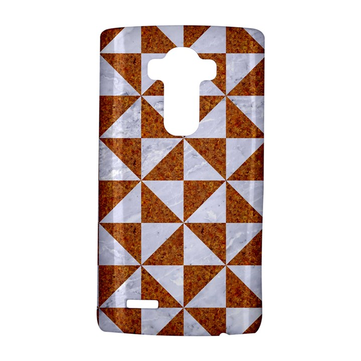 TRIANGLE1 WHITE MARBLE & RUSTED METAL LG G4 Hardshell Case