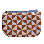 TRIANGLE1 WHITE MARBLE & RUSTED METAL Large Coin Purse Back