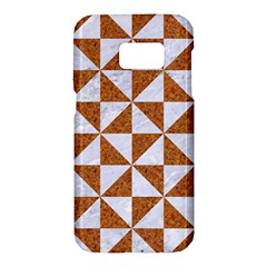 Triangle1 White Marble & Rusted Metal Samsung Galaxy S7 Hardshell Case