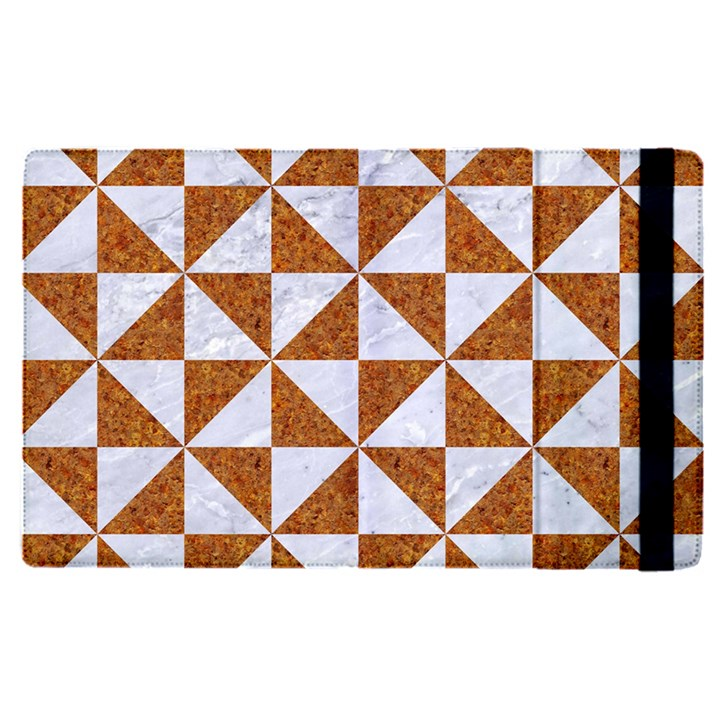 TRIANGLE1 WHITE MARBLE & RUSTED METAL Apple iPad Pro 9.7   Flip Case