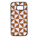 TRIANGLE1 WHITE MARBLE & RUSTED METAL Samsung Galaxy S7 Black Seamless Case Front