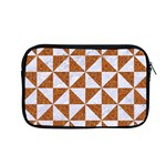 TRIANGLE1 WHITE MARBLE & RUSTED METAL Apple MacBook Pro 13  Zipper Case Front