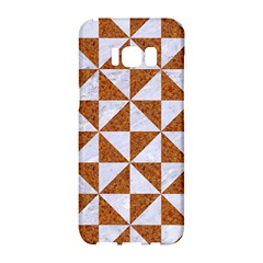 Triangle1 White Marble & Rusted Metal Samsung Galaxy S8 Hardshell Case